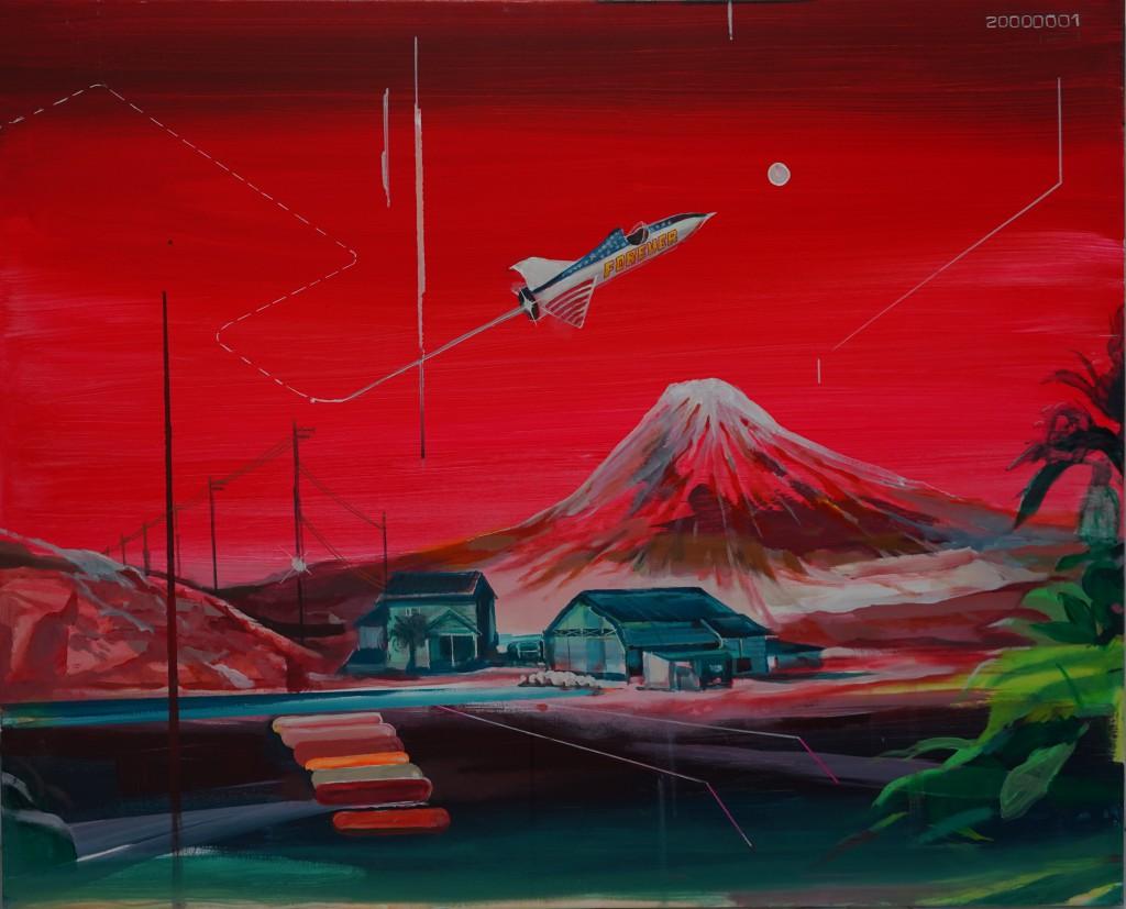 JonathanNotario_Arcade white rocket_o:lienzo .100x80cm.1.700€